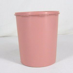vtg TUPPERWARE Large Spherical Round Canister Pink